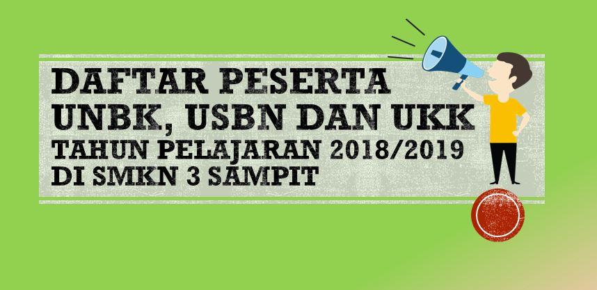 Daftar Peserta UNBK TP 2018/2019